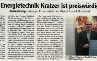 Digital Award Energietechnik Kratzer